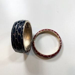 Ann Taylor Magnetic Strip Bangles set of 2